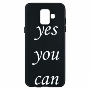 Etui na Samsung A6 2018 Napis: Yes you can