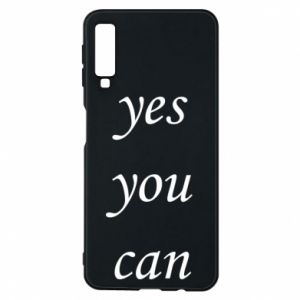Etui na Samsung A7 2018 Napis: Yes you can