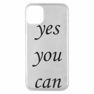 Etui na iPhone 11 Pro Napis: Yes you can