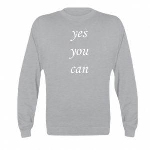 Bluza dziecięca Napis: Yes you can
