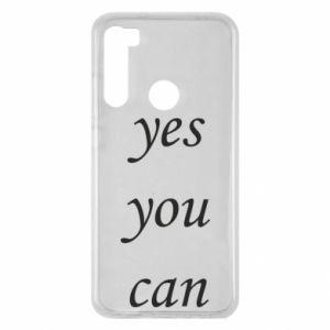 Etui na Xiaomi Redmi Note 8 Napis: Yes you can