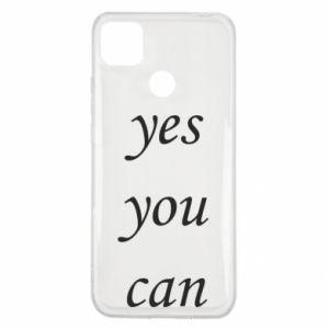 Etui na Xiaomi Redmi 9c Napis: Yes you can