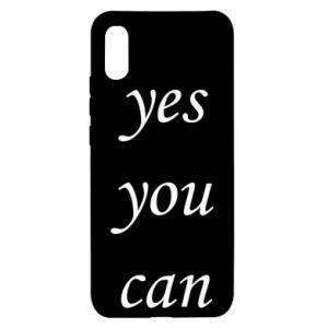 Etui na Xiaomi Redmi 9a Napis: Yes you can