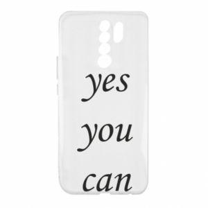 Etui na Xiaomi Redmi 9 Napis: Yes you can
