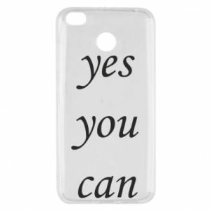 Etui na Xiaomi Redmi 4X Napis: Yes you can