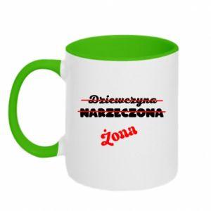 Two-toned mug Inscription: Wife
