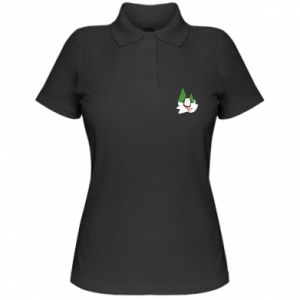 Women's Polo shirt Penguin skiing