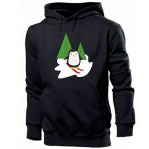 Men's hoodie Penguin skiing