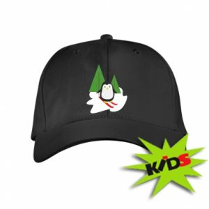 Kids' cap Penguin skiing