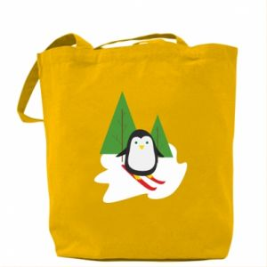 Bag Penguin skiing