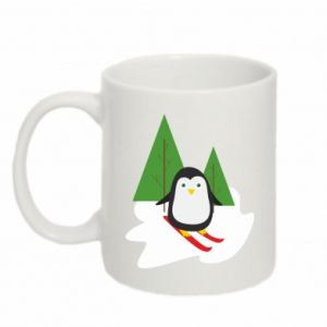 Mug 330ml Penguin skiing