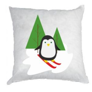 Pillow Penguin skiing