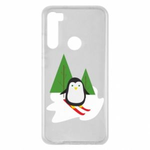 Xiaomi Redmi Note 8 Case Penguin skiing