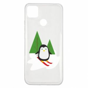 Xiaomi Redmi 9c Case Penguin skiing
