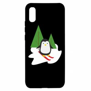 Xiaomi Redmi 9a Case Penguin skiing