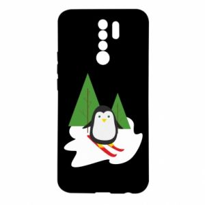 Xiaomi Redmi 9 Case Penguin skiing