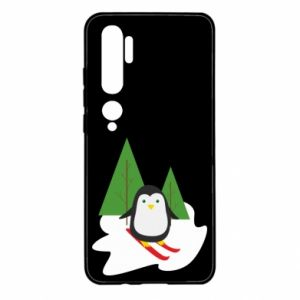 Xiaomi Mi Note 10 Case Penguin skiing