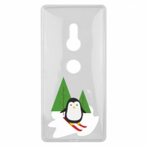 Sony Xperia XZ2 Case Penguin skiing