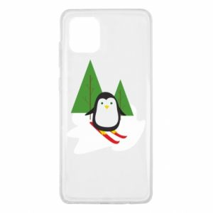 Samsung Note 10 Lite Case Penguin skiing