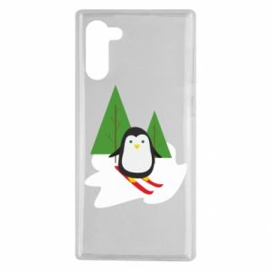 Samsung Note 10 Case Penguin skiing