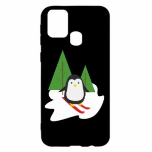 Samsung M31 Case Penguin skiing