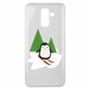Samsung J8 2018 Case Penguin skiing