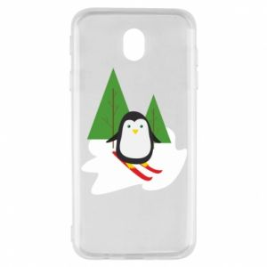 Samsung J7 2017 Case Penguin skiing