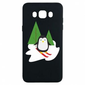 Samsung J7 2016 Case Penguin skiing