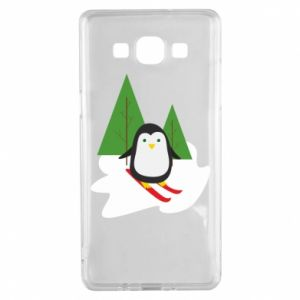 Samsung A5 2015 Case Penguin skiing
