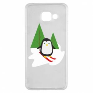 Samsung A3 2016 Case Penguin skiing