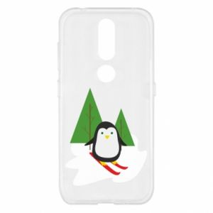 Nokia 4.2 Case Penguin skiing