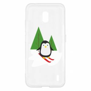 Nokia 2.2 Case Penguin skiing