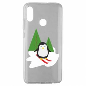 Huawei Honor 10 Lite Case Penguin skiing