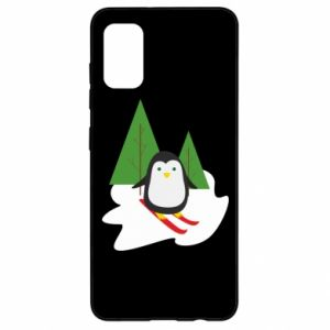Samsung A41 Case Penguin skiing