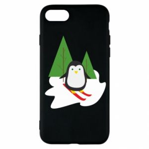 iPhone SE 2020 Case Penguin skiing