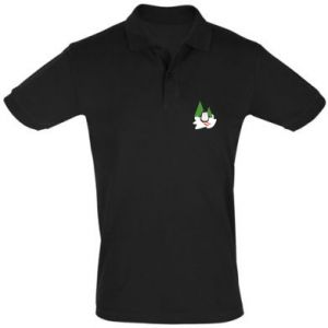 Men's Polo shirt Penguin skiing