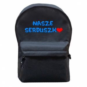 Plecak z przednią kieszenią Nasze serduszko, dla chłopca