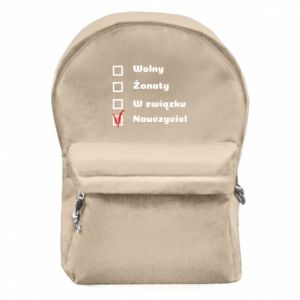 Backpack with front pocket Teacher
