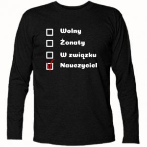 Long Sleeve T-shirt Teacher - PrintSalon