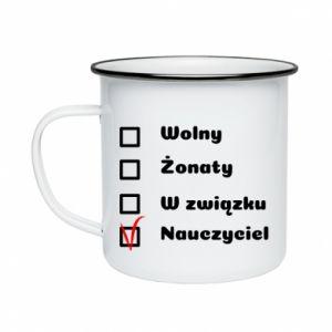 Enameled mug Teacher - PrintSalon