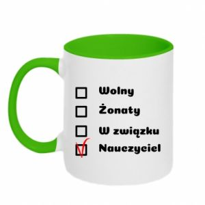 Two-toned mug Teacher - PrintSalon