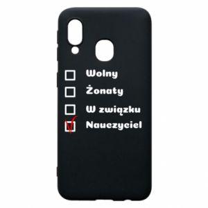 Phone case for Samsung A40 Teacher - PrintSalon