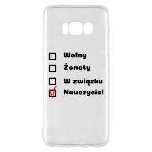 Phone case for Samsung S8 Teacher - PrintSalon