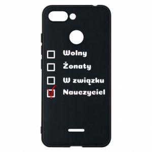 Phone case for Xiaomi Redmi 6 Teacher - PrintSalon