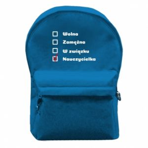 Backpack with front pocket Teacher -woman