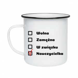 Enameled mug Teacher -woman - PrintSalon