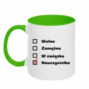 Two-toned mug Teacher -woman - PrintSalon