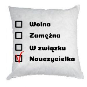 Pillow Teacher -woman - PrintSalon