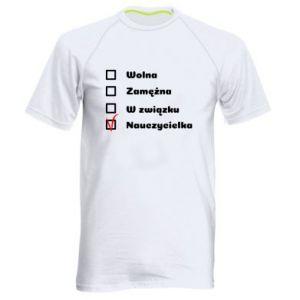 Men's sports t-shirt Teacher -woman - PrintSalon