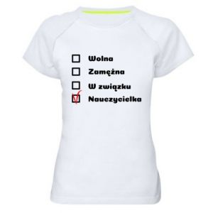 Women's sports t-shirt Teacher -woman - PrintSalon